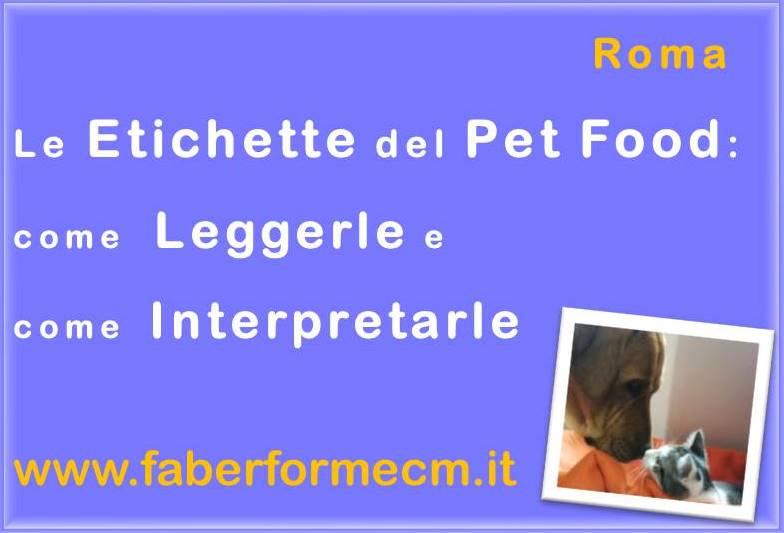 Le etichette del Pet food